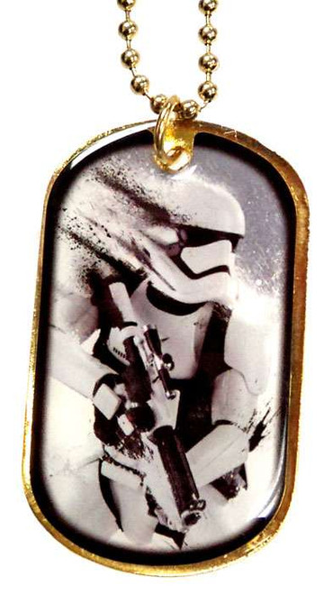 Star Wars The Force Awakens Stormtrooper Dog Tag W2 [Gold Loose]