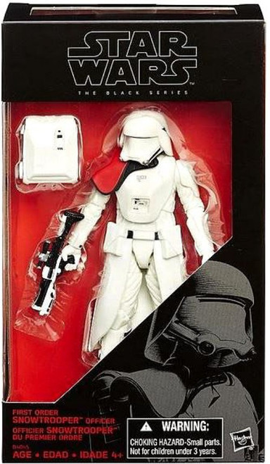 Star Wars The Force Awakens Black Series First Order Snowtrooper Officer Exclusive Action Figure [Pauldron]
