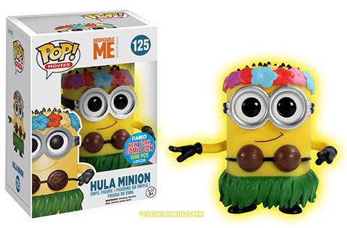 Funko Despicable Me 2 POP! Movies Hula Minion Exclusive Vinyl Figure #125 [Glow-in-the-Dark]
