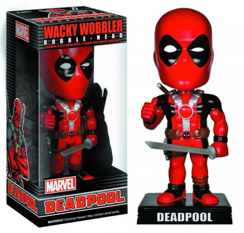 Funko Marvel Wacky Wobbler Deadpool Bobble Head [Damaged Package, Mint Figures]