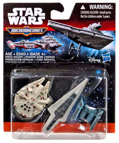 Star Wars The Force Awakens Micro Machines Space Escape Vehicle 3-Pack