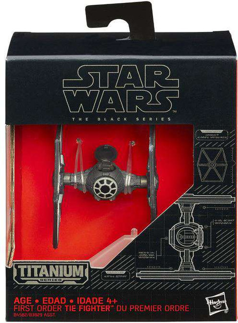 Star Wars The Force Awakens Black Titanium First Order TIE Fighter 2-Inch Diecast Vehicle