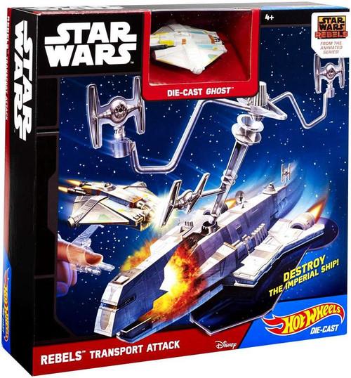 Star Wars Hot Wheels Rebels Transport Attack Playset