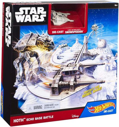 Star Wars The Empire Strikes Back Hot Wheels Hoth Echo Base Battle Playset