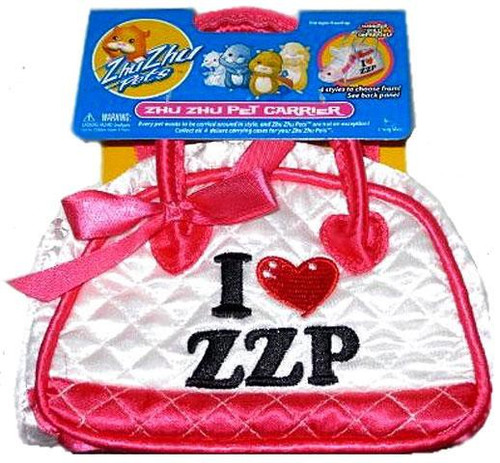 Zhu Zhu Pets Zhu Zhu Pet Carrier [I Heart ZZP, White]