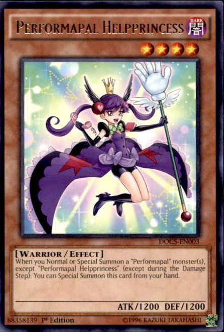 YuGiOh Dimension of Chaos Rare Performapal Helpprincess DOCS-EN003
