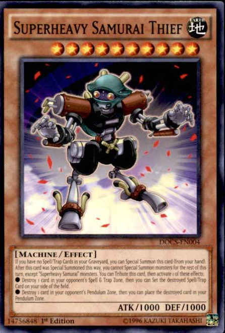 YuGiOh Dimension of Chaos Common Superheavy Samurai Thief DOCS-EN004
