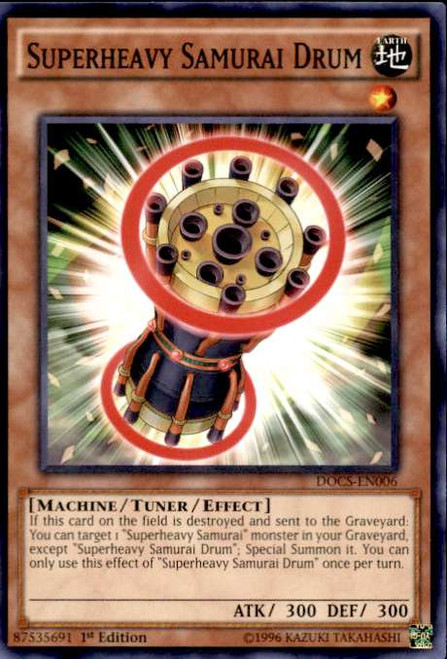 YuGiOh Dimension of Chaos Common Superheavy Samurai Drum DOCS-EN006