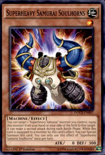 YuGiOh Dimension of Chaos Common Superheavy Samurai Soulhorns DOCS-EN007