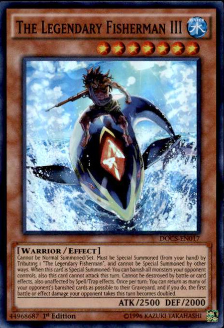 YuGiOh Dimension of Chaos Super Rare The Legendary Fisherman III DOCS-EN017