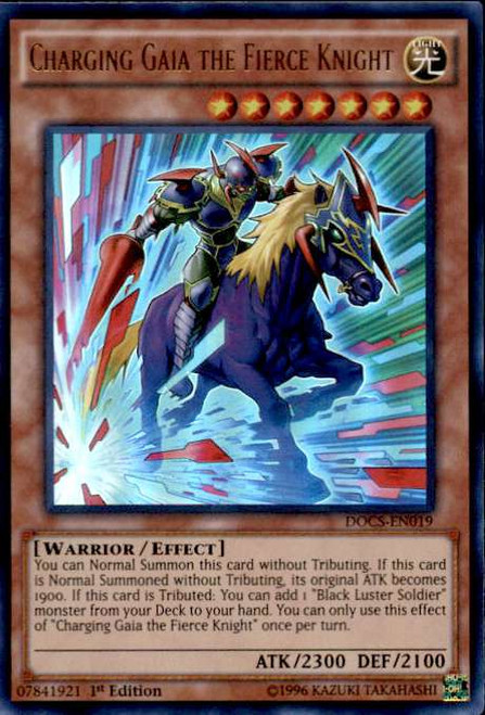 YuGiOh Dimension of Chaos Ultra Rare Charging Gaia the Fierce Knight DOCS-EN019