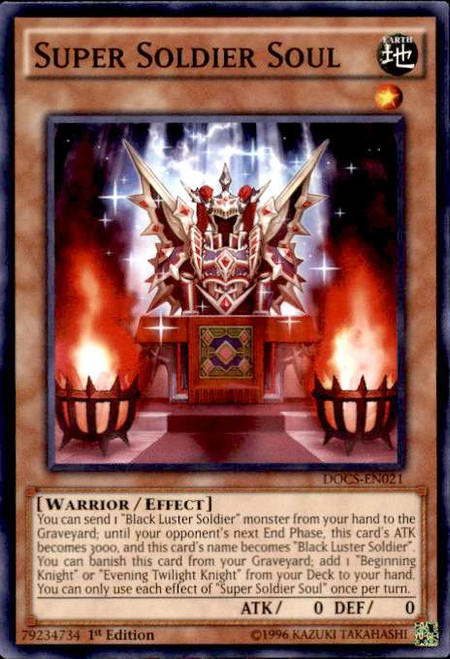 YuGiOh Dimension of Chaos Common Super Soldier Soul DOCS-EN021