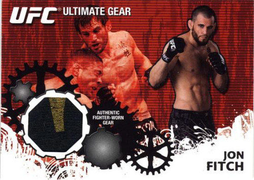 Topps UFC 2010 Championship Ultimate Gear Relic Jon Fitch UG-JF