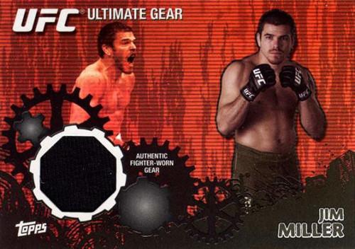 Topps UFC 2010 Championship Ultimate Gear Relic Jim Miller UG-JM