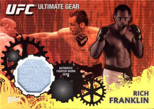 Topps UFC 2010 Championship Ultimate Gear Relic Rich Franklin UG-RF