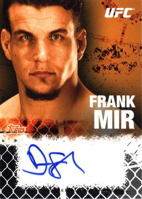 Topps UFC 2010 Championship Autograph Fighters & Personalities Frank Mir FA-FM