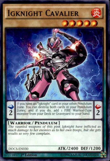 YuGiOh Dimension of Chaos Common Igknight Cavalier DOCS-EN030