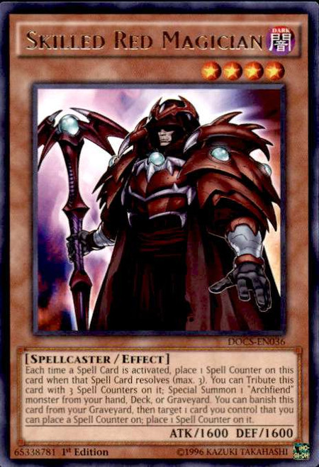 YuGiOh Dimension of Chaos Rare Skilled Red Magician DOCS-EN036