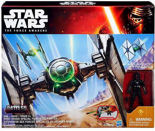 Star Wars The Force Awakens Epic Battles Special Forces TIE Fighter Exclusive 3.75-Inch Vehicle [Desert Damage]