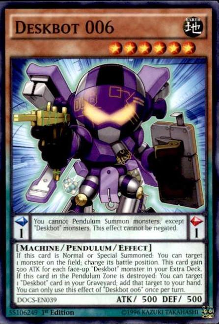 YuGiOh Dimension of Chaos Common Deskbot 006 DOCS-EN039