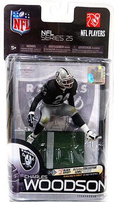 McFarlane Toys NFL Oakland Raiders Sports Picks Series 25 Charles Woodson Action Figure #434/1000 [Black Jersey]