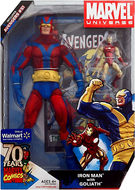 Marvel Universe 70 Years of Marvel Comics Iron Man with Goliath Exclusive Action Figure Set #51] [Red & Blue]