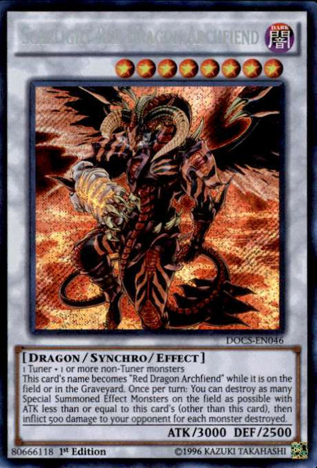 YuGiOh Dimension of Chaos Secret Rare Scarlight Red Dragon Archfiend DOCS-EN046