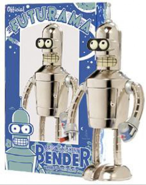 Futurama Bright 'N' Shiny Bender Wind Up Toy [Nickel Plate Edition]