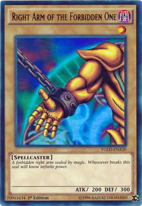 YuGiOh Yugi's Legendary Decks Ultra Rare Right Arm of the Forbidden One YGLD-ENA20