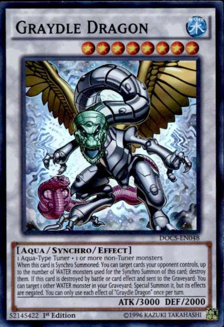YuGiOh Dimension of Chaos Super Rare Graydle Dragon DOCS-EN048