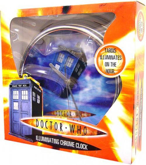 Doctor Who Illuminating Chrome Clock