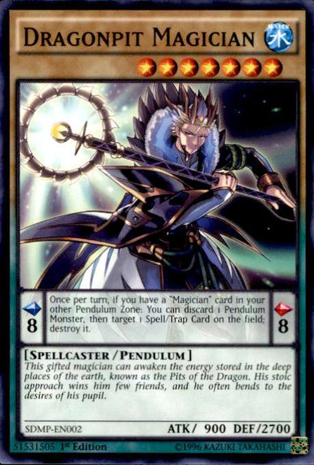 YuGiOh Master of Pendulum Structure Deck Common Dragonpit Magician SDMP-EN002