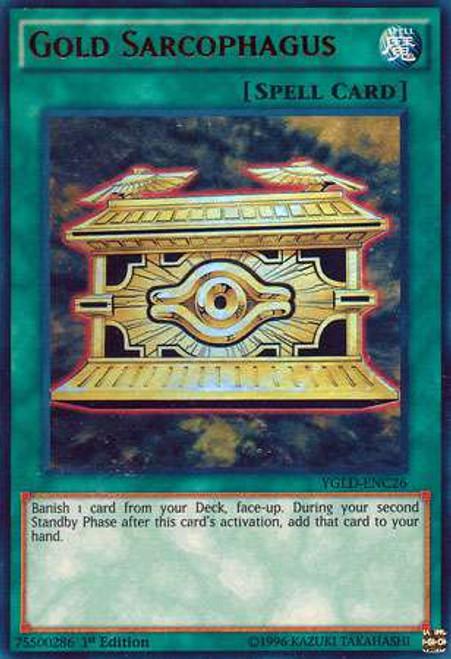 YuGiOh Yugi's Legendary Decks Ultra Rare Gold Sarcophagus YGLD-ENC26