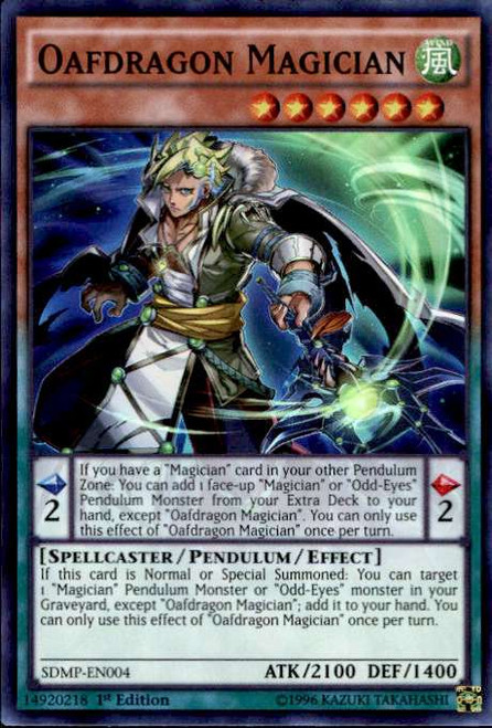 YuGiOh Master of Pendulum Structure Deck Super Rare Oafdragon Magician SDMP-EN004