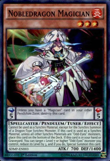 YuGiOh Master of Pendulum Structure Deck Super Rare Nobledragon Magician SDMP-EN003