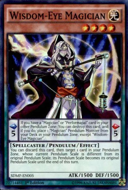 YuGiOh Master of Pendulum Structure Deck Super Rare Wisdom-Eye Magician SDMP-EN005