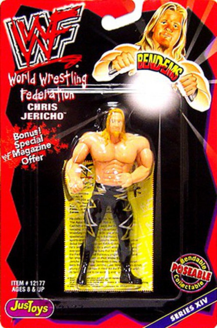 WWE Wrestling WWF Bend-Ems Series 14 Chris Jericho Rubber Figure