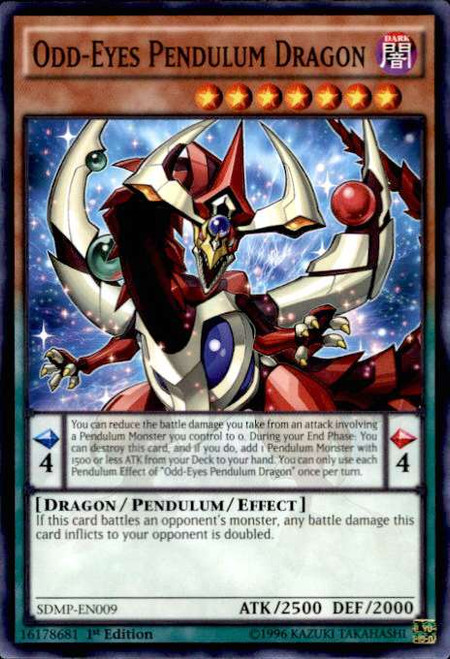YuGiOh Master of Pendulum Structure Deck Common Odd-Eyes Pendulum Dragon SDMP-EN009