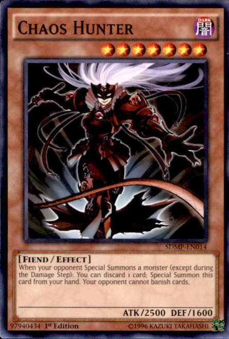 YuGiOh Master of Pendulum Structure Deck Common Chaos Hunter SDMP-EN014