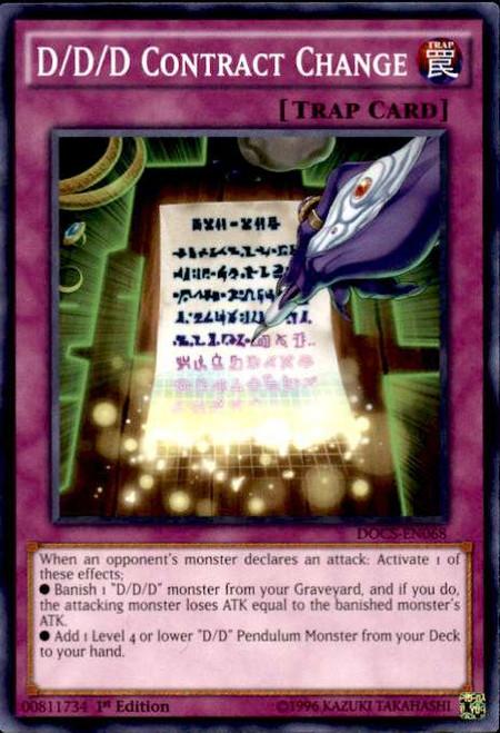 YuGiOh Dimension of Chaos Common D/D/D Contract Change DOCS-EN068