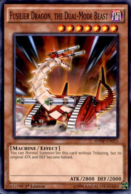 YuGiOh Master of Pendulum Structure Deck Common Fusilier Dragon, the Dual-Mode Beast SDMP-EN015