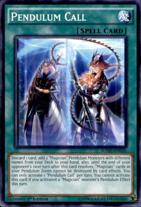YuGiOh Master of Pendulum Structure Deck Common Pendulum Call SDMP-EN026