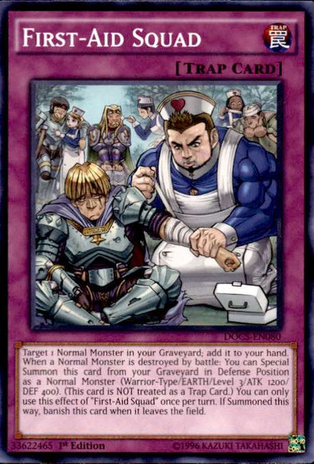 YuGiOh Dimension of Chaos Common First-Aid Squad DOCS-EN080