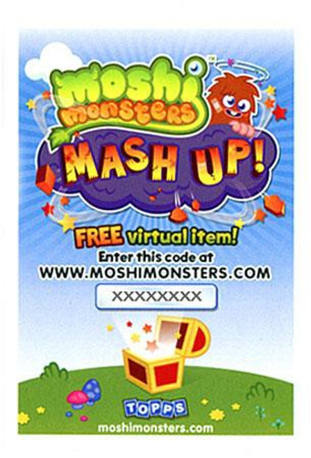 Moshi Monsters Topps Mash Up! Code Card