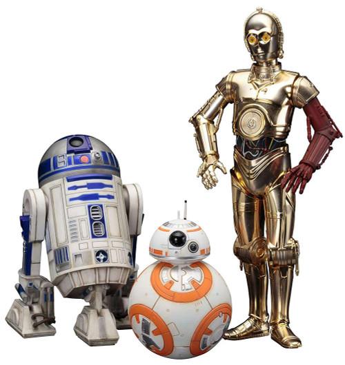 Star Wars R2-D2, C-3PO & BB-8 Statue Pack