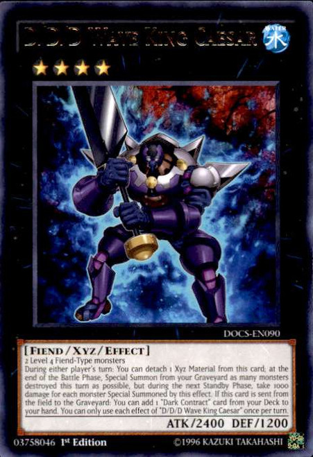 YuGiOh Dimension of Chaos Rare D/D/D Wave King Caesar DOCS-EN090