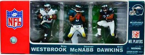 McFarlane Toys NFL Philadelphia Eagles Sports Picks Brian Westbrook, Donovan McNabb & Brian Dawkins Exclusive Action Figure 3-Pack