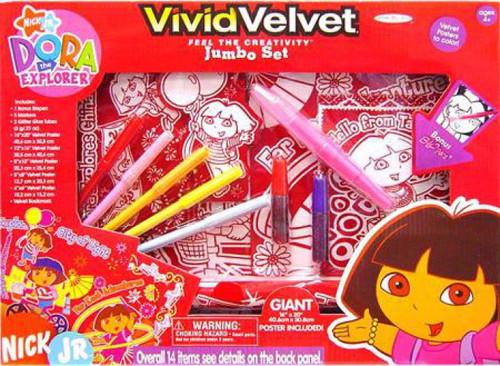 Dora the Explorer Vivid Velvet Jumbo Activity Set