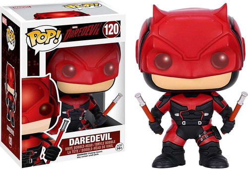 Funko POP! Marvel Daredevil (Red Suit) Vinyl Bobble Head #120