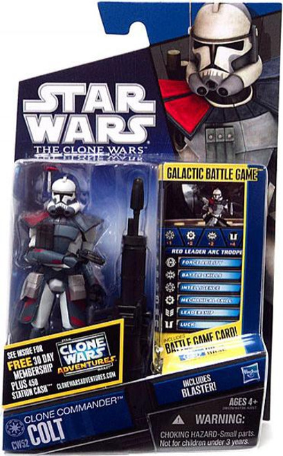 Star Wars The Clone Wars 2011 Clone Commander Colt Action Figure CW52 [Red Leader ARC Trooper]
